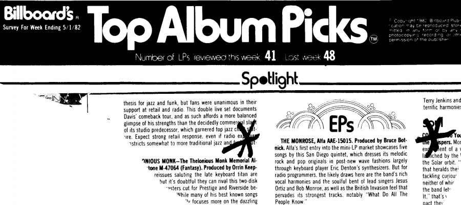 Billboard Top Album Picks Largely thru Eric Dentons Synthesizers